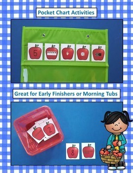 Apples Number Sense Math Centers Bundle Numerals to 20