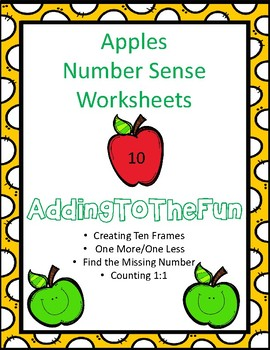 Apples Number Sense Worksheets