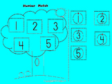 Apples Number match 1 to 5  Color, Cut and Paste