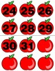 Apples - Numbers 0-31 Pocket Chart Cards