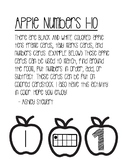 Black and White Apples Numbers 1-10 Game