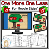 Apples One More One Less Digital Activity and Worksheets f