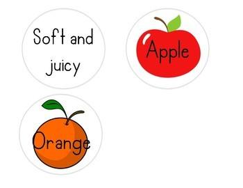 Apples & Oranges Double Bubble Anchor Chart