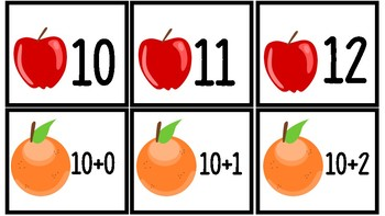FREE Apples & Oranges Expanded Form Match (10 - 20)