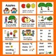 Apples POWERPOINT -3 Reading Levels + Illustrated Vocab. Slides- Back to School