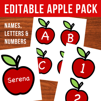 Apples Pack - Editable Student Names, Letters, & Numbers (Fall Bulletin Boards!)