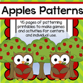 Apples Patterns Centers and Individual Activities for Preschool
