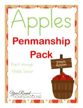 Apples Penmanship Pack
