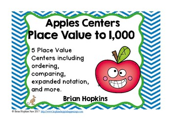 Apples Place Value to 1,000 Centers
