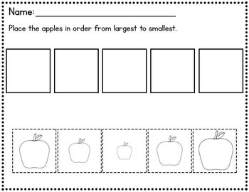 Apples - Place in order of size