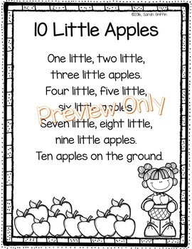 Apples Poem - Ten Little Apples
