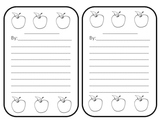 Apples - Fall Poem or Story Outline with images - Many uses