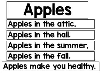 Apples Poetry FREEBIE Pack