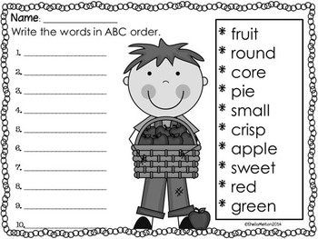 Apples (Original poem and literacy activities)