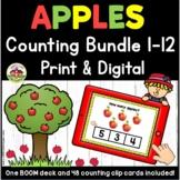 Apples Preschool Counting Bundle | Print and Digital