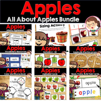 Apples and Johnny Appleseed PreK to Kinder Literacy and Math Activities