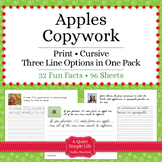 Apples - Print - Copywork - Handwriting