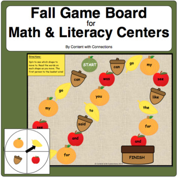 Autumn Game Board-Editable! Great for Sight Words, Math, ESL Vocab. and more!