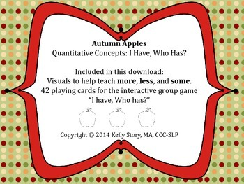 "Apples: Quantitative Concepts ""I Have, Who Has?"""