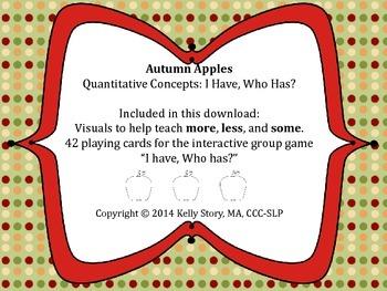 """Apples: Quantitative Concepts """"I Have, Who Has?"""""""