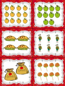 Apples! Read, Write, and Count the Room {Literacy and Math} {CCSS}