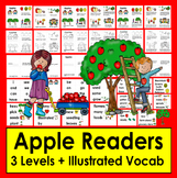 Apples Readers - 3 Reading Levels + Illustrated Word Wall