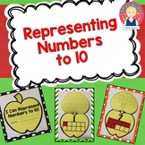 Apples Representing Numbers to 10 in English and Spanish {