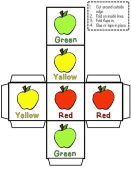 Roll, Count & Graph: Apple Themed Math & Literacy Pack {PreK-1}