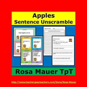 Apples Sentence Unscramble