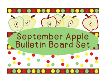 Apples September Fall Autumn Bulletin Board Border Printable Full Color PDF