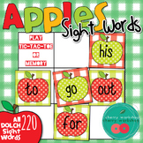 Dolche Sight Words Cards - Play Games - Tic Tac Toe or Memory