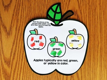 All About Apples - Apple Activities Book for Kindergarten and First Grade