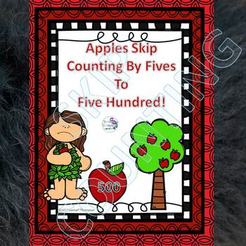 "Apples ""Skip Counting Flash Cards"" (By 5)"