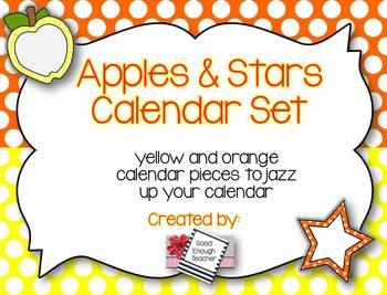 Apples & Stars Calendar Kit {Yellow & Orange version}