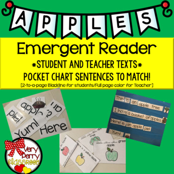 Apples Student and Teacher Emergent Readers & Pocket Chart