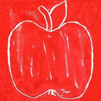 Apples Styrofoam Blockprinting