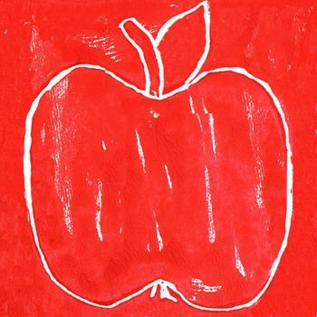 Apples Styrofoam Blockprinting