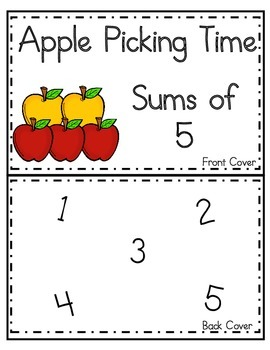 Fall~Apples~Sums of 5~Grades K-1