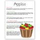 Apples Teacher Packet
