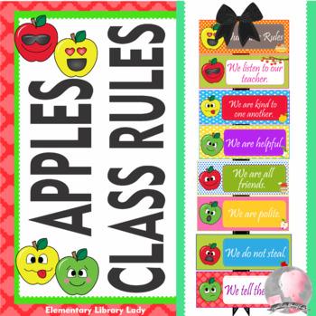 Apple Faces Apples Class Rules - EDITABLE