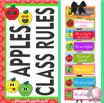 Apple Faces Apples Class Rules - EDITABLE