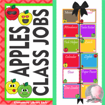 Apple Faces Apples Classroom Jobs - EDITABLE