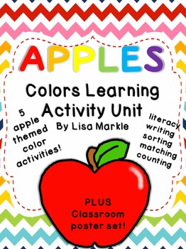Apples Color Recognition Activity Pack for Preschool