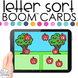 Apples Theme Letter Sort Boom™ Cards - Distance Learning f