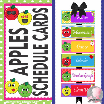 Apple Faces Apples Schedule Cards - EDITABLE