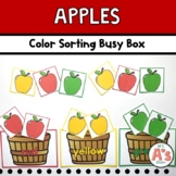Apples Theme Task Box | Color Sorting Activity