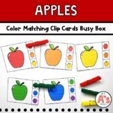Apples Theme Task Box | Colors Clip Cards Activity