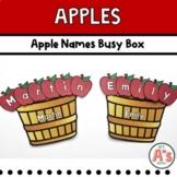 Apples Theme Task Box | Names Activity