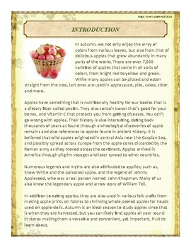 Apples Themed Nature Education Unit-Stage 2 (Magic Forest Academy)