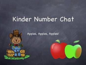 Apples-Themed Number Chat for Kinders **POWERPOINT**